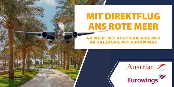 Direktflug Wien und Salzburg Hurghada Ägypten günstig buchen